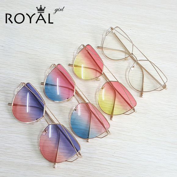 High Quality Vintage Women Sunglasses Metal Frame Cat eye Sun glasses