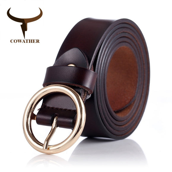 COWATHER women belts cow genuine leather good feminino original brand