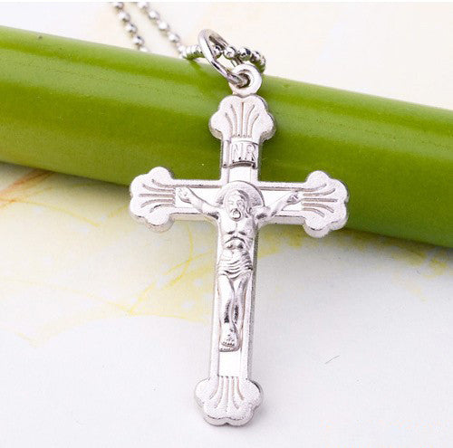Real Pure 925 Sterling Silver Cross pendant Fit 925 Necklace for Men