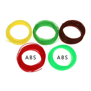 20Pcs/Set 20 Color 10m/color 3D Printer Pen Filament ABS/PLA 1.75mm Plastic Rubber Consumables Material 3d pen filament