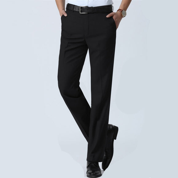 Men's Slim Fit Dress Pants Office Trousers Business Classic