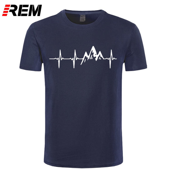 REM Mountain Heartbeat T-Shirt Fashion Funny Birthday 100% Cotton