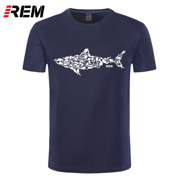 Shark Scuba Diver T-shirt Tee Divinger Dive Gift Present for Men