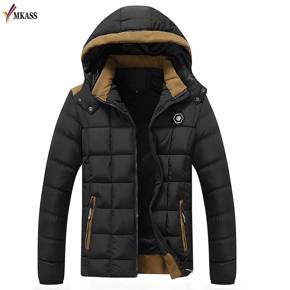 2019 New Arrival Mens Winter Jackets and Coats Thicken Warm jacket Men Coat Hooded Cotton-Padded Male Clothing Hommer Parkas