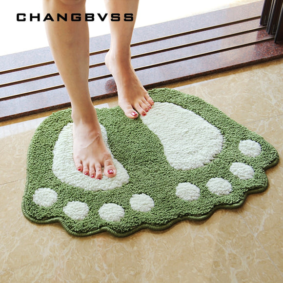 Foot Print Bath Mats,Non-slip Bathroom Carpet,Mat Toilet