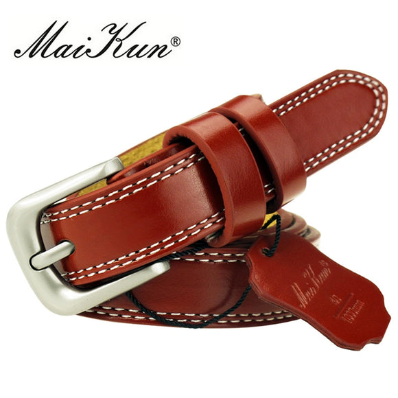 Top Quality Cowskin Leather Belts for Women Cummerbund Luxury Belt