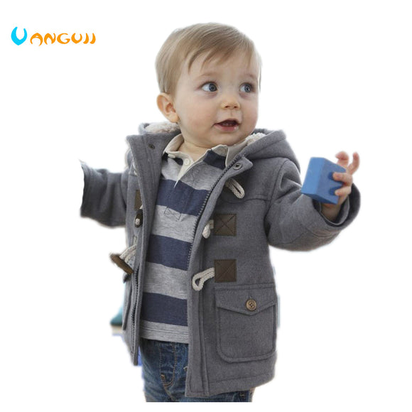 2019 New Boys Winter Jacket Clothes 2 Color Kids Outerwear Coat
