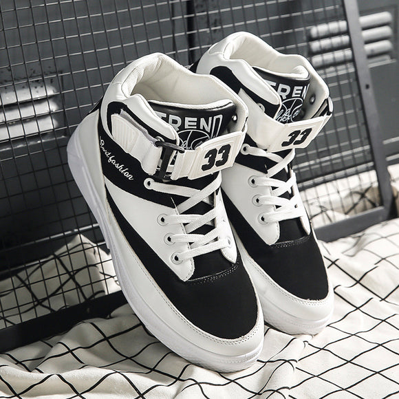 Mazefeng Hard-Wearing high-top Shoes Men Sneaker Lace-up Trend