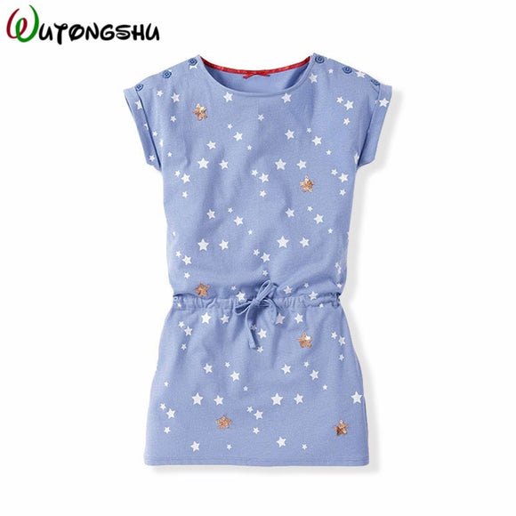 Fashion Girl Summer Dress 2019 Casual Girls Dresses Girl Cotton Sports Clothes Toddler Girl Clothing Children Clothes For 1Y-8Y