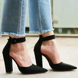 Sexy Classic High Heels Women's Platform Heels Woman Ankle Strap Shoes