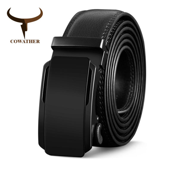 COWATHER High Quality Cow Genuine Leather Belts for Men