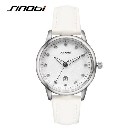 Sinobi Luxury Diamond Fashion Ladies Automatic Date Watch