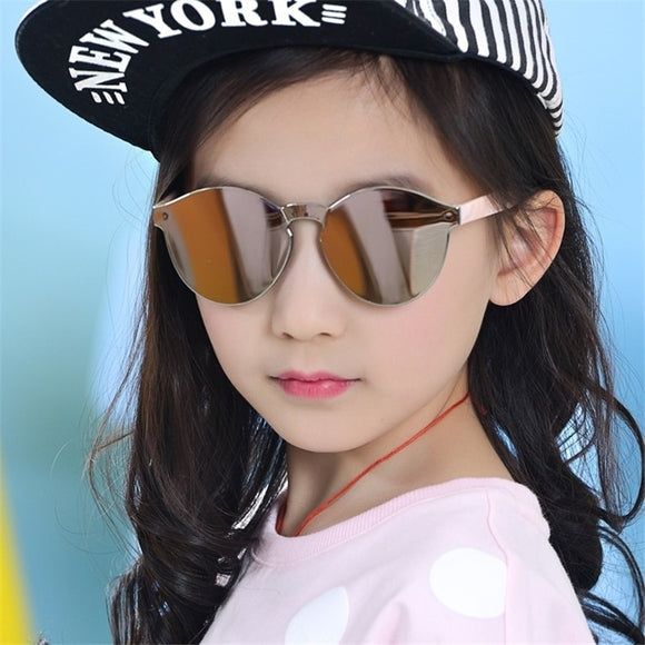 Fashion Baby Boys Girls Kids Sunglasses Vintage Round Sun Glasses Children Arrow Glass 100%UV Protection Oculos De  3-13 years
