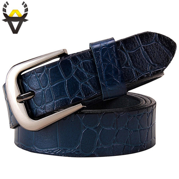 Genuine leather Belts for Women Fashion Pin buckle thin belt