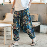 New Hip Hop Aladdin Hmong Baggy Cotton Linen Harem Pants Men Women Plus Size Wide Leg Trousers New Casual Pants Cross-pants