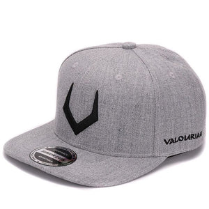 High quality grey wool snap back 3D pierced embroidery cap flat bill