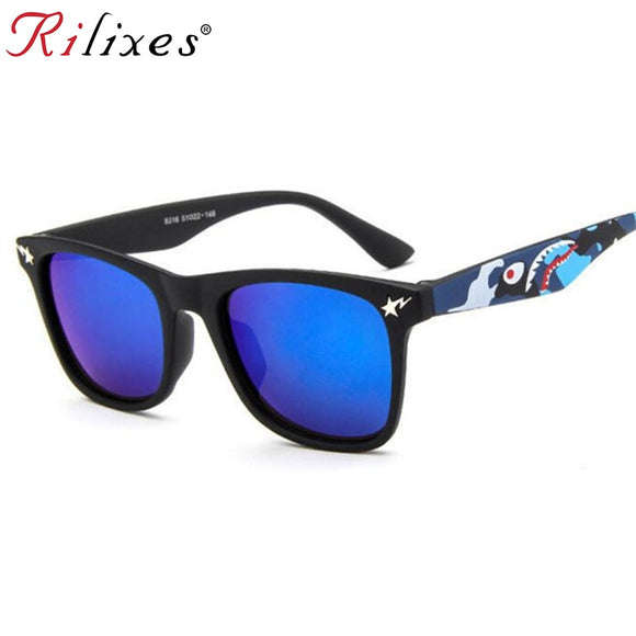 RILIXES Cool Baby Boy Girls Coating Sunglasses Children Sun Glasses