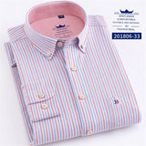 100% Cotton Fashion Stripe Casual Long Sleeve Shirts