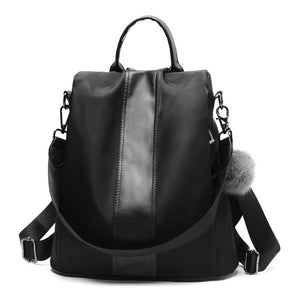 HERALD FASHION Quality Leather Anti-thief Women Backpack