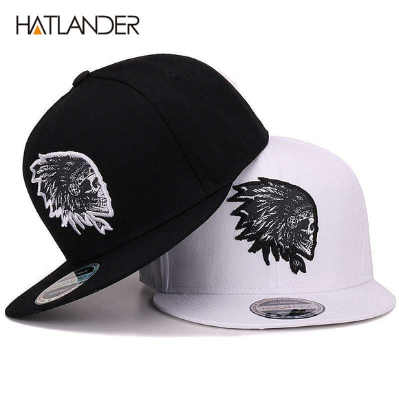 Embroidery Skull baseball caps hats hip hop snap backs