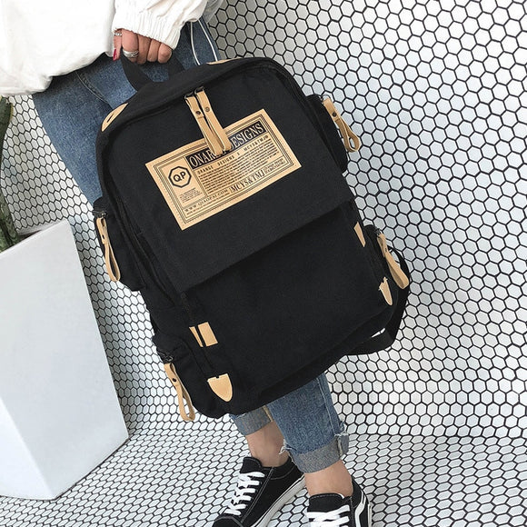 Brand fashion backpack women Bag School bags for teenager girls boys