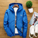 Outdoor  Big Size Men Jacket Couple Windbreaker Reflective Fishing Clothes