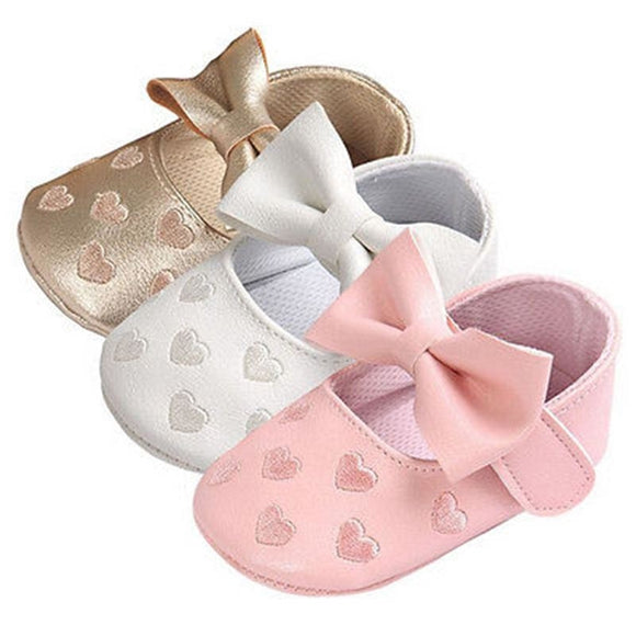 Baby PU Leather Baby Boy Girl Baby Moccasins Moccs Shoes Bow Fringe Soft Soled Non-slip Footwear Crib Shoes
