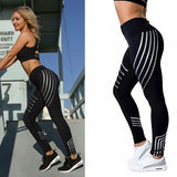Woman Fitness Leggings Light High Elastic Shine  Slim Fit Women