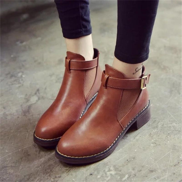 Women Ankle Martin Boots 2019 Autumn Female Casual Shoes Woman