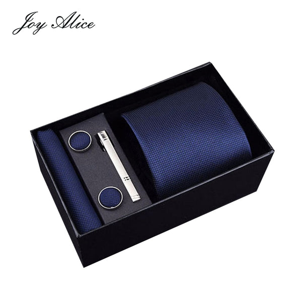 Gift box Custom Personalized Mens Ties Hankie Cufflinks Sets
