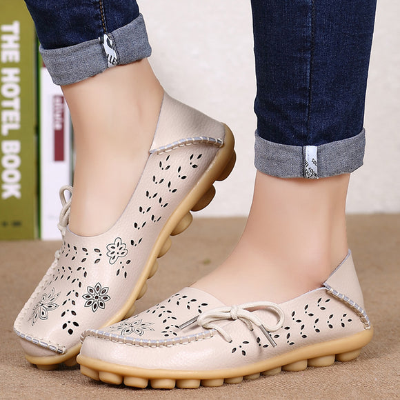 Women Flats Women Genuine Leather Size 34-44 Casual Sapato Feminino