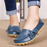 Women's Flat Genuine Leather Casual Sapato Feminino Size 34-44