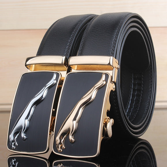 Ceinture Homme Cowskin Automatic Buckle Cowhide Men Belts
