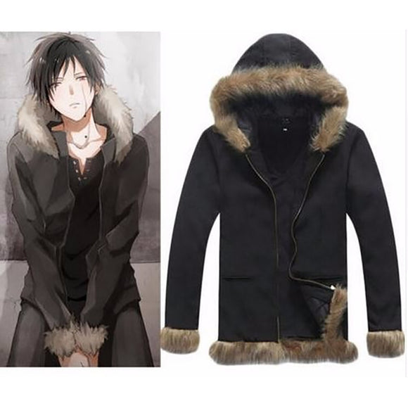 Cosplay Costumes Vogue Black mens winter jackets and coats Halloween