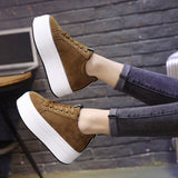 Women's High Heels Casual Sneakers Platform Shoes
