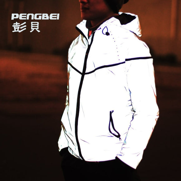 2019 hip-hop brand winter waterproof 3m reflective men baseball coats