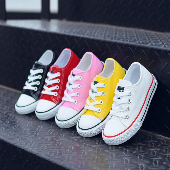 Kids Shoes for Girl Children Canvas Shoes Boys Sneakers 2019 Spring Girls Shoes White Short Solid Fashion Children Shoes