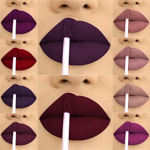24 Color Liquid Lipstick Matte W Makeup Waterproof Red Lip Long Lasting Gloss Mate Black Lip Stick Matte Liquid Lipsticks