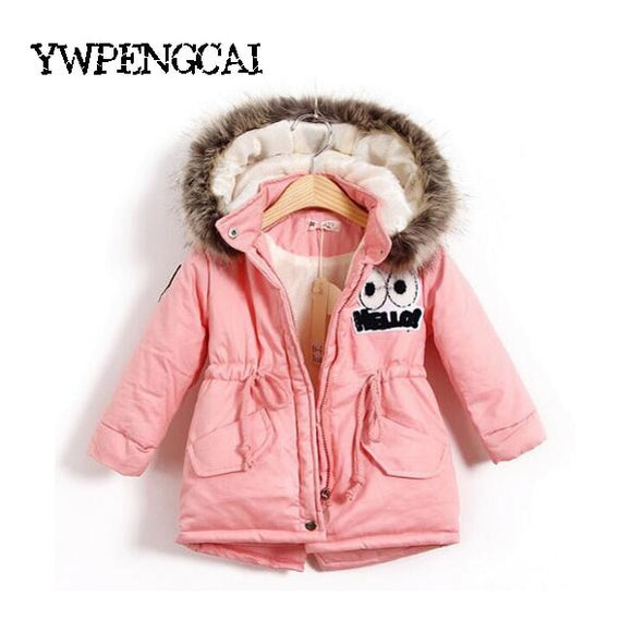 Autumn Winter Children Girls Warm Thick Jackets 2-8 Years