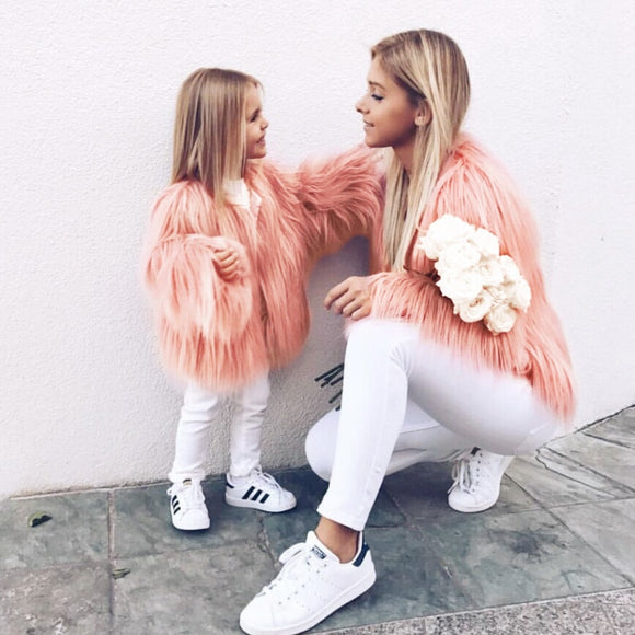 Autumn Winter Family Matching Clothing Mother Daughter