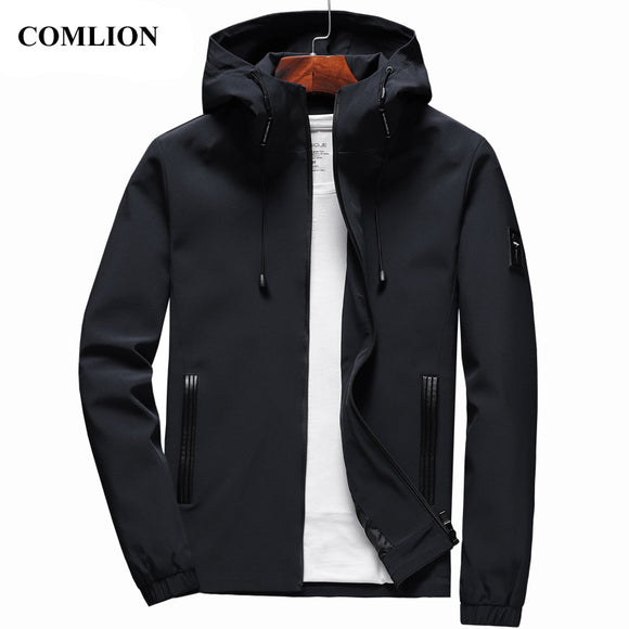Men New Arrival Casual Solid Hooded Jackets
