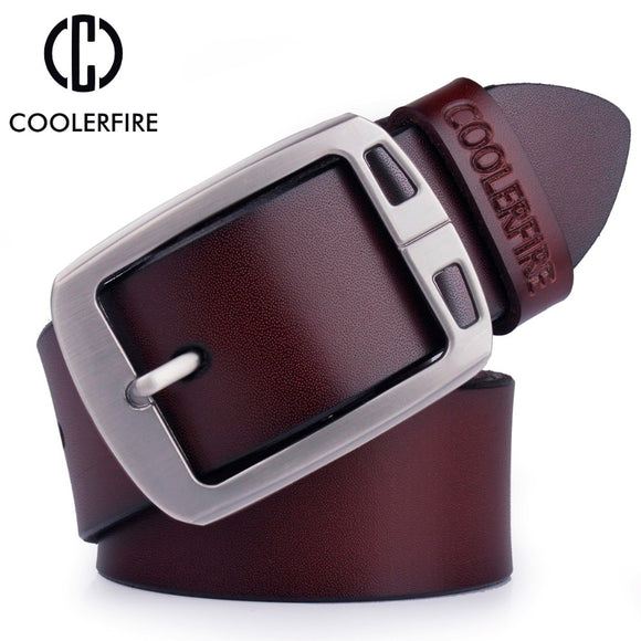 Cowhide genuine leather belts for men cowboy Luxury strap
