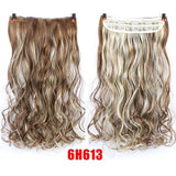 Long Wavy Hair Extension 5 Clip High Wigs for Women