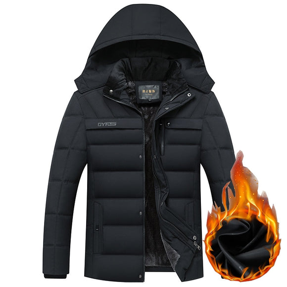 Men -20 Degree Thicken Warm Men Parkas Hooded  Jackets