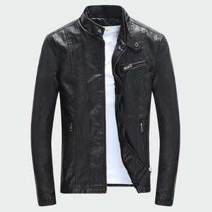 Men's PU Coats Autumn Winter Motorcycle Biker Faux Leather Jacket