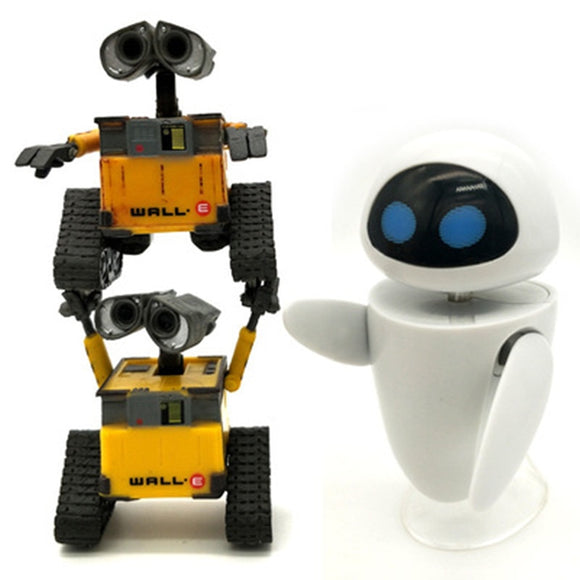 2019 New arrival Wall-E Robot Wall E & EVE PVC Action Figure Collection Model Toys Dolls  WITH BOX
