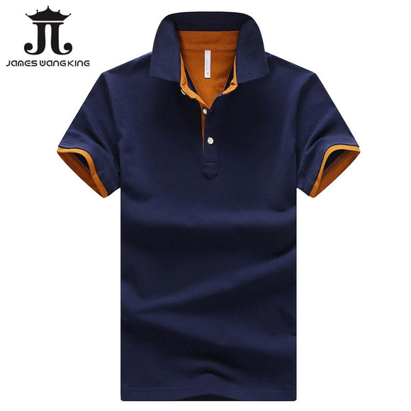 New fashion solid cotton short sleeve tops for man slim