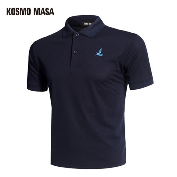 KOSMO MASA Cotton Black Polo Shirt Mens Short Sleeve 2019 Summer Casual Solid Male Polo Shirts Dry Slim Fit Polos for Men MP0001