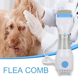 Electric Flea Comb Puppies Treatment Safe Pets Kill for Dogs Cats