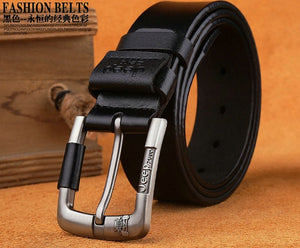 Best Quality Leather Alloy Pin Buckle Belt For Men